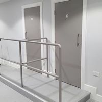 Gymnasium - changing and shower rooms