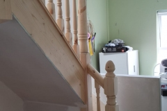 Attic-stairs-bannister